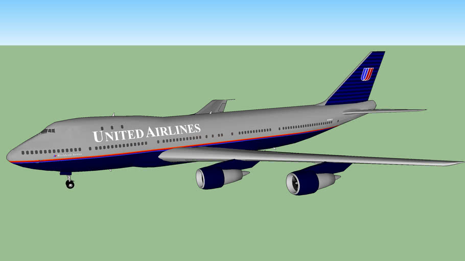 United Airlines 747-123 (1999)