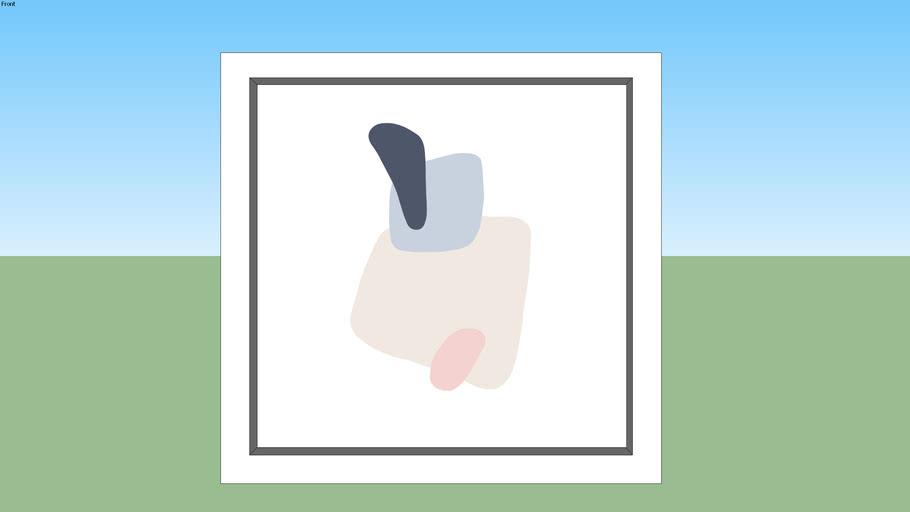 Quadro Abstrato - Minimal #4 Square