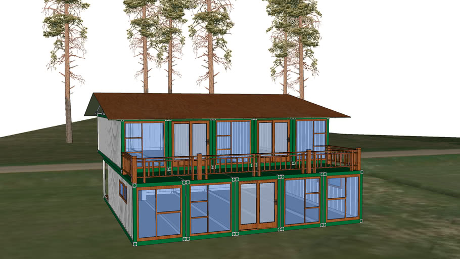 Forest Retreat Shipping Container House Home