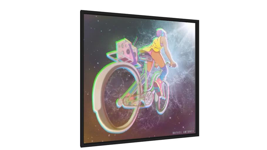 Quadro Minha Bike Cósmica - Galeria9, por R.A.H