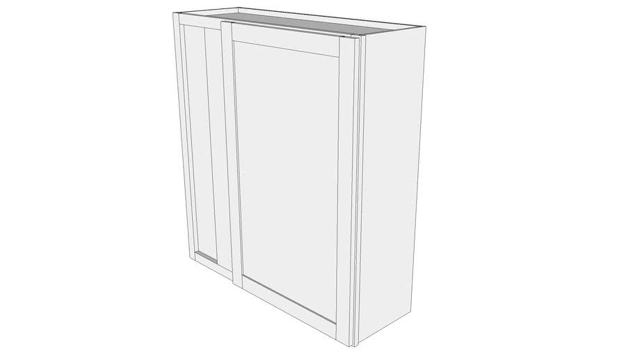 "Bayside Wall Cabinet WBC3639 - 12"" Deep, Blind Corner Cabinet, One Door"