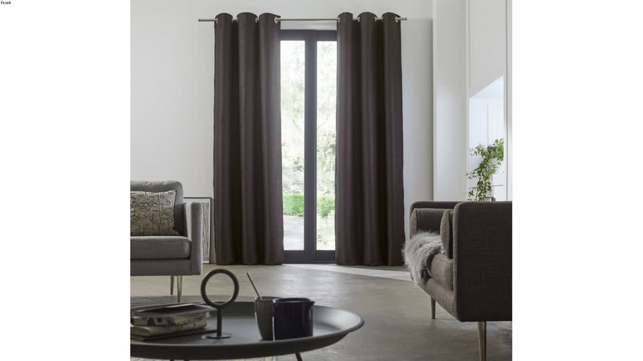 Eyelet curtain LINA by Madura Anthracite / 89€ - 179€ TTC