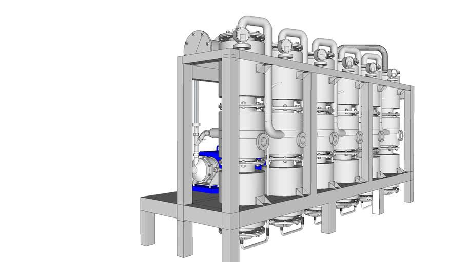 Destilador efecto multiple
