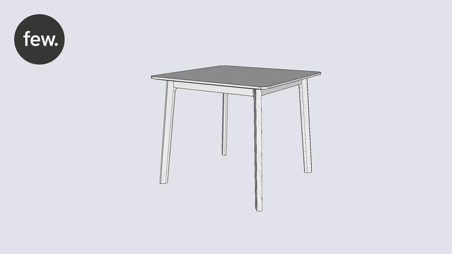 few.   Common table   85x85   White ash