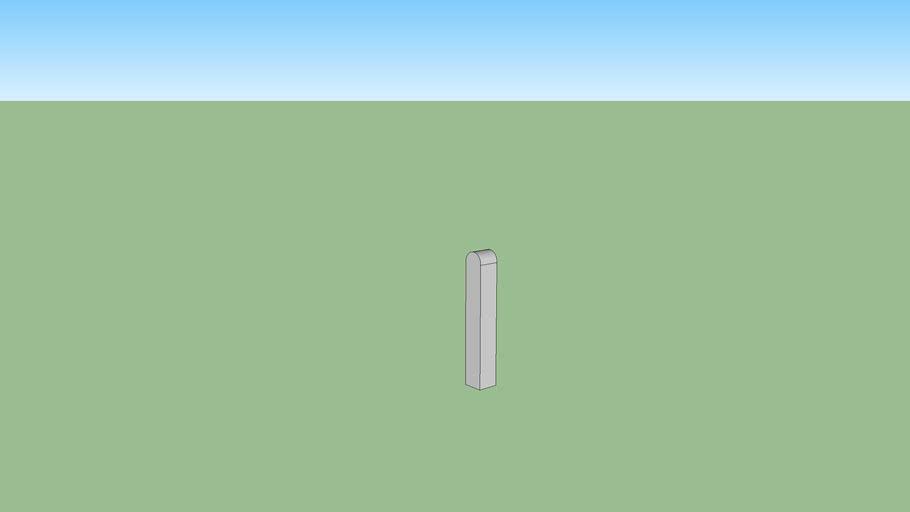 poteau pour lisse beton