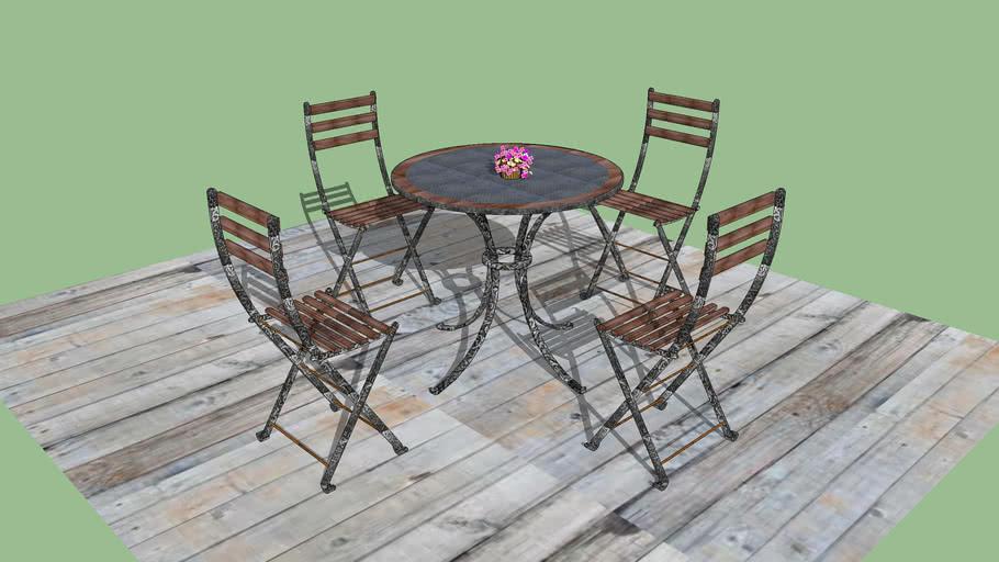 Bistro Table Set 3d Warehouse