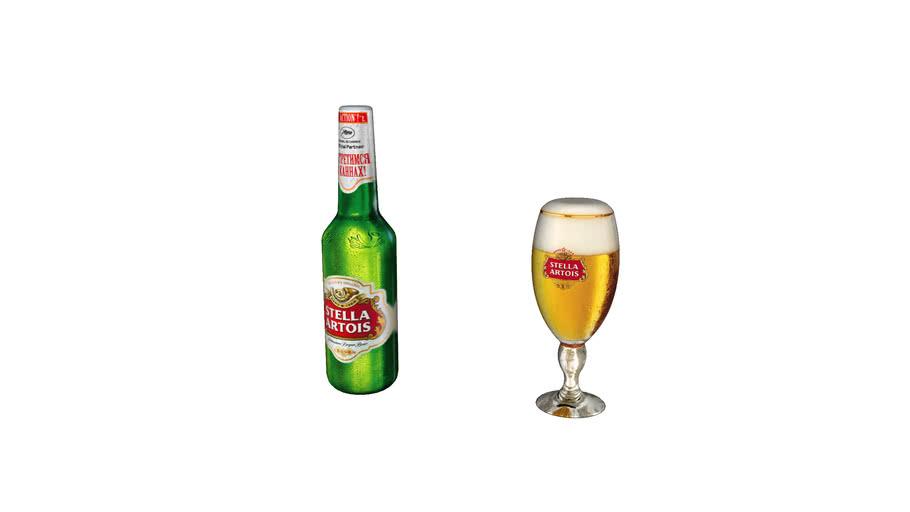 bottle of stella artois
