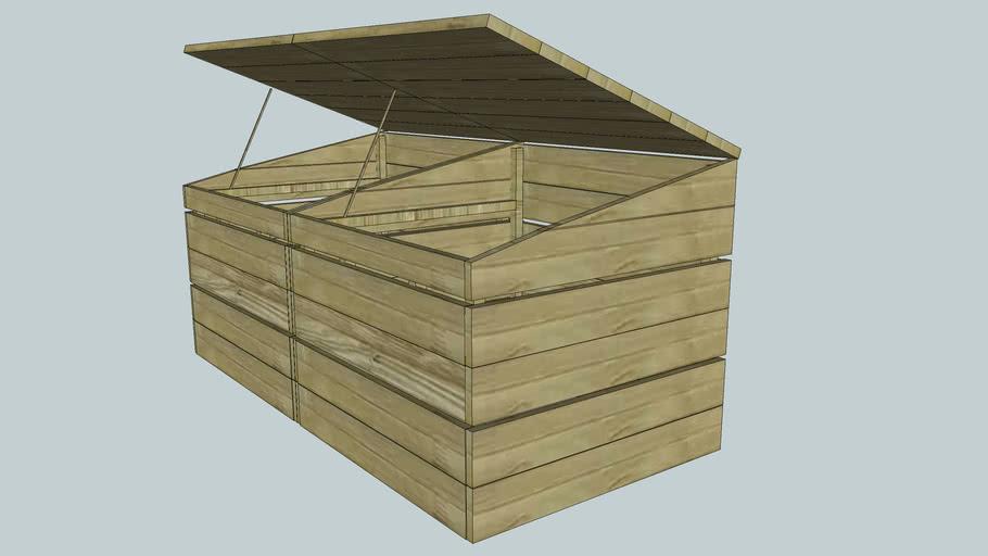 Bacs pour compost pour potager module de 2 bacs