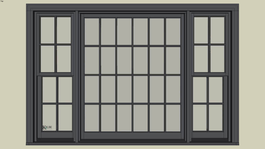 """Kolbe Ultra Sterling Double Hung Picture Unit UDH16284452 F.S. 8'-0 1/2""""x 5'-4 7/16""""R.O.8'-1""""x 5'-5"""""""