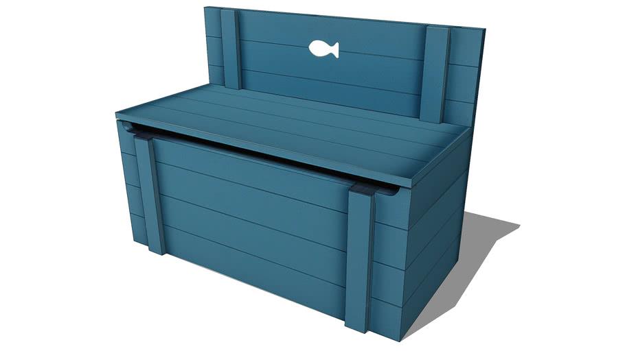 Banc Coffre Enfant Bleu Marin Maisons Du Monde Ref 150315 Prix 129 90 3d Warehouse