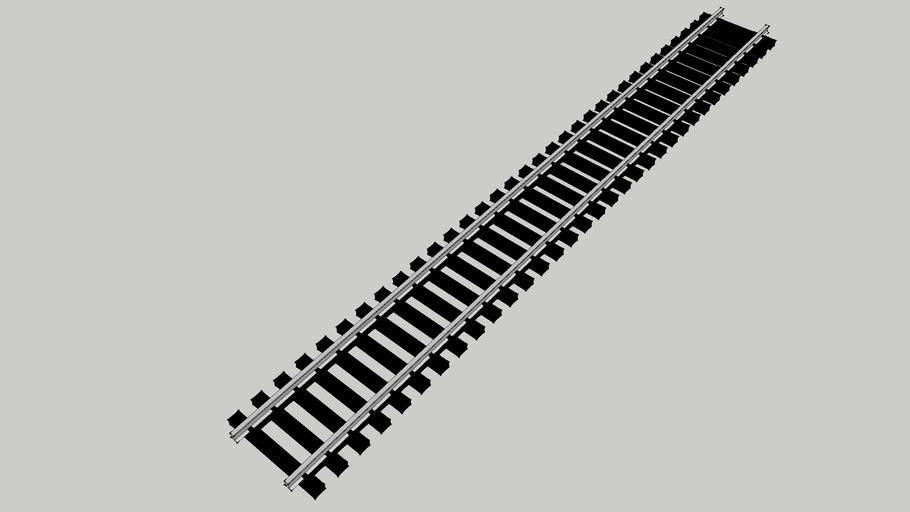"HO Track Straight 9"" code 100 nickel/silver"