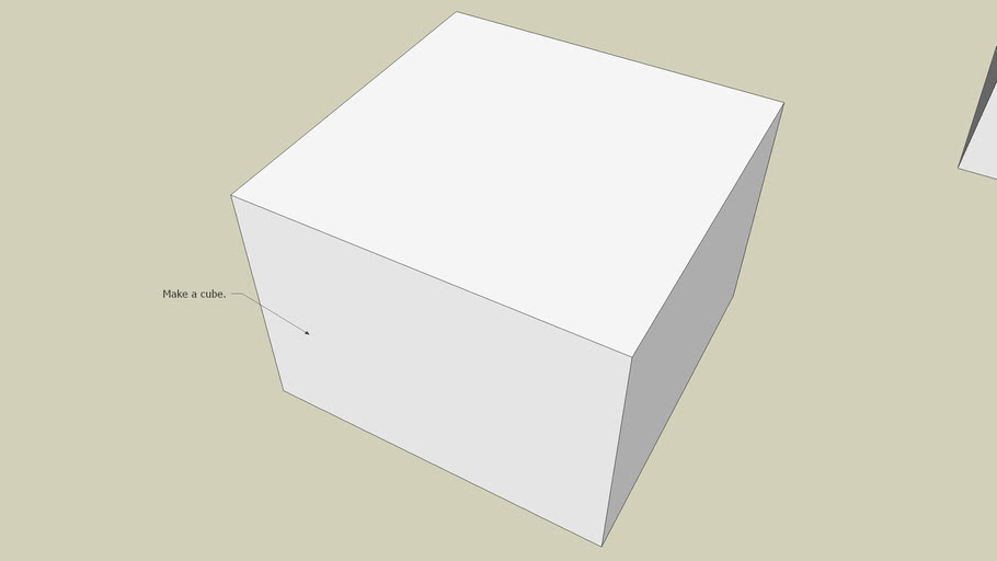 Cube with rounded edges-Side only - Sketchup 6.