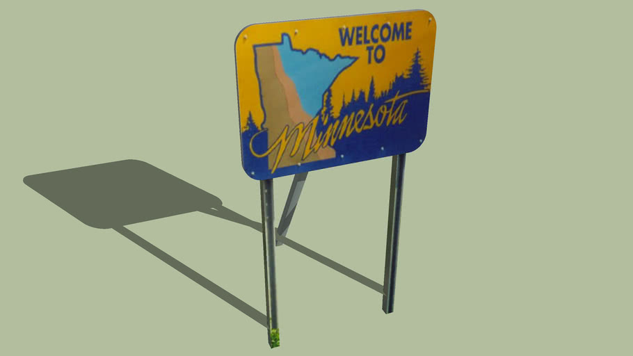 Welcome Sign Minnesota