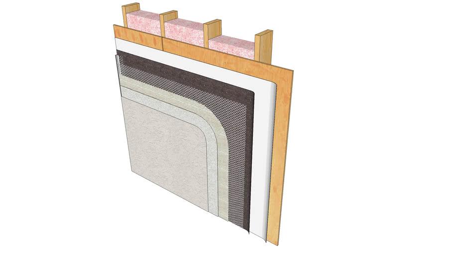 Stucco Assembly - Wood Studs & Sheathing
