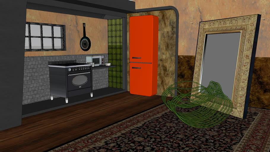 Vintage Kitchen and appliances