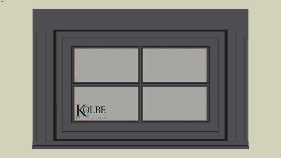"""Kolbe Ultra Inswing Rectangular Transom SPUT2618 (F.S. 2'-6 1/4"""" x 1'-7 1/2"""" R.O. 2'-6 3/4"""" x 1'-8"""")"""