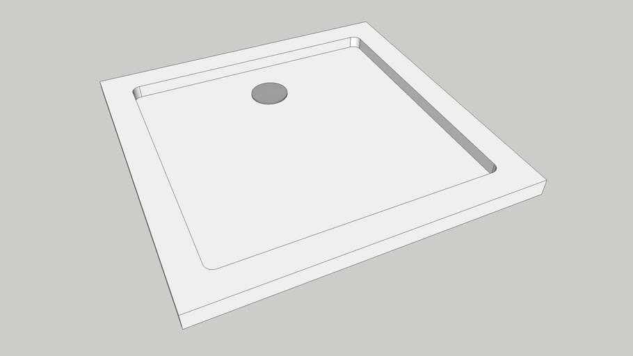 Square Shower Tray W760 x D760 x H40mm