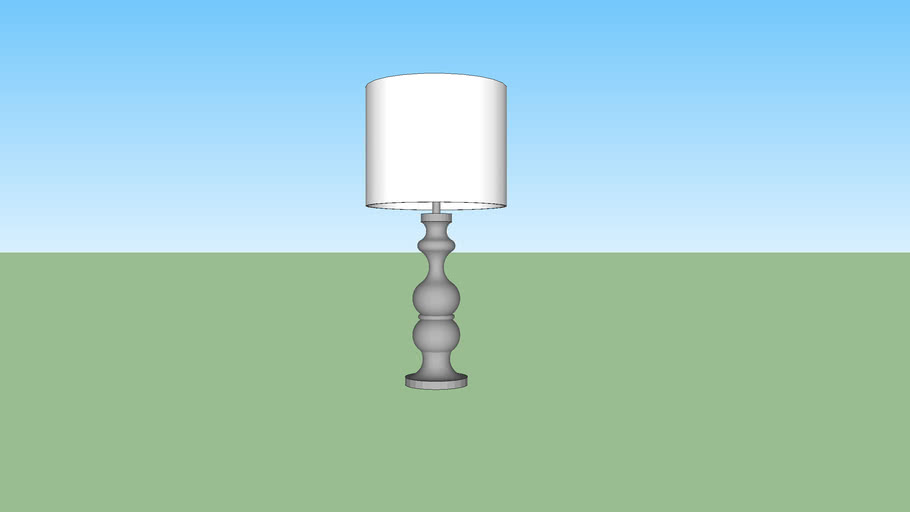 Lacquer Spindle Table Lamp