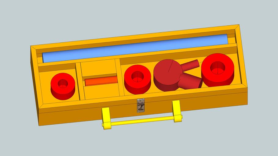 Wood case for Ridgid pipe threading kit 36345 00-R