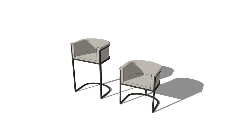 Duran Lucena Chair and Stool