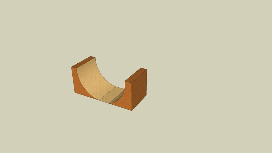 Wooden halfpipe
