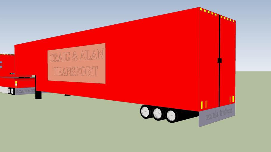 scania and trailer craig & alan transports
