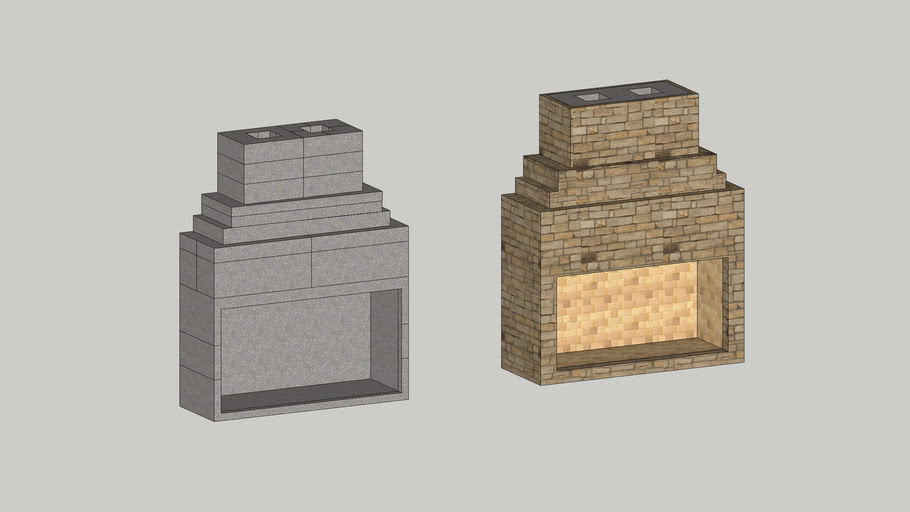 """New Age 72"""" Fireplace Kit with Chimney"""