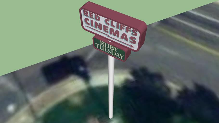 WASHINGTON RED CLIFFS CINEMAS - RUBY TUESDAY SIGN