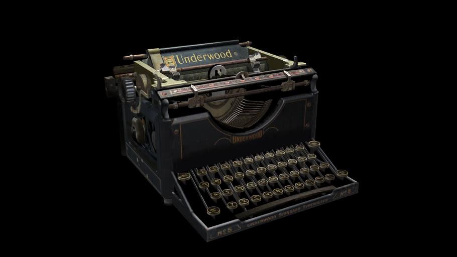 Typewriter 'Underwood No. 5'