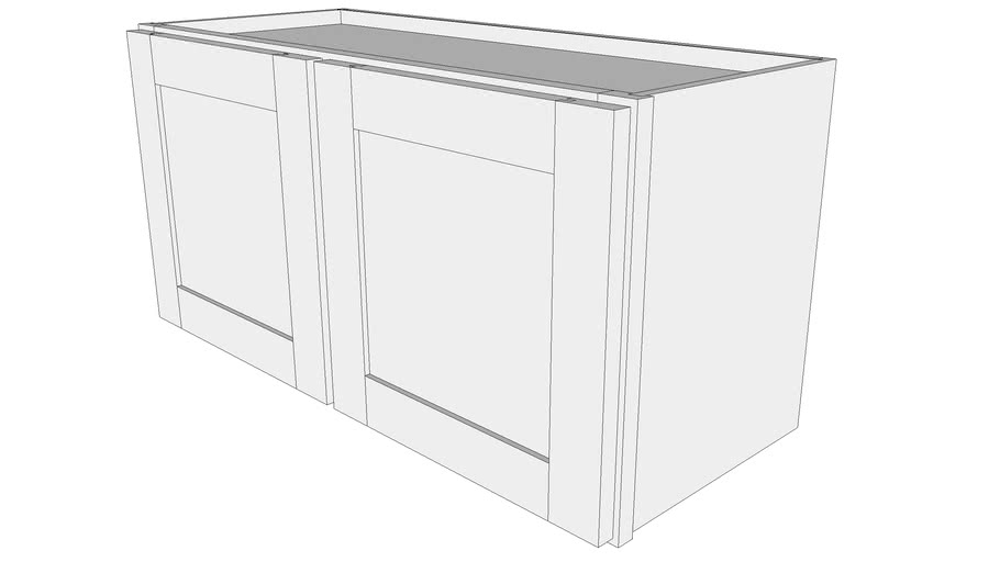 Bayside Base Cabinet W3015 - 12' Deep, Two Doors   3D ...
