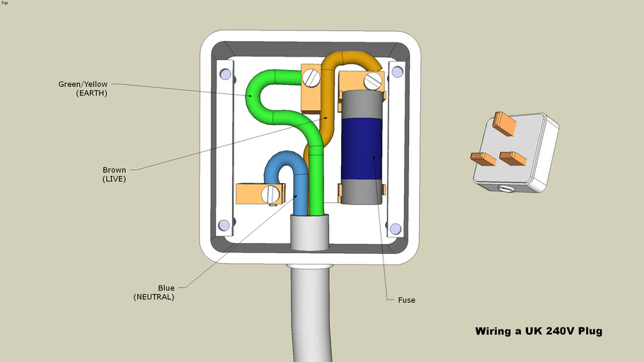 240 Volt Plug Wiring Diagram from 3dwarehouse.sketchup.com