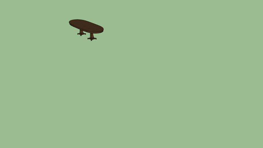 Bassett 46X126 Oval Dining Table 4538-K4884