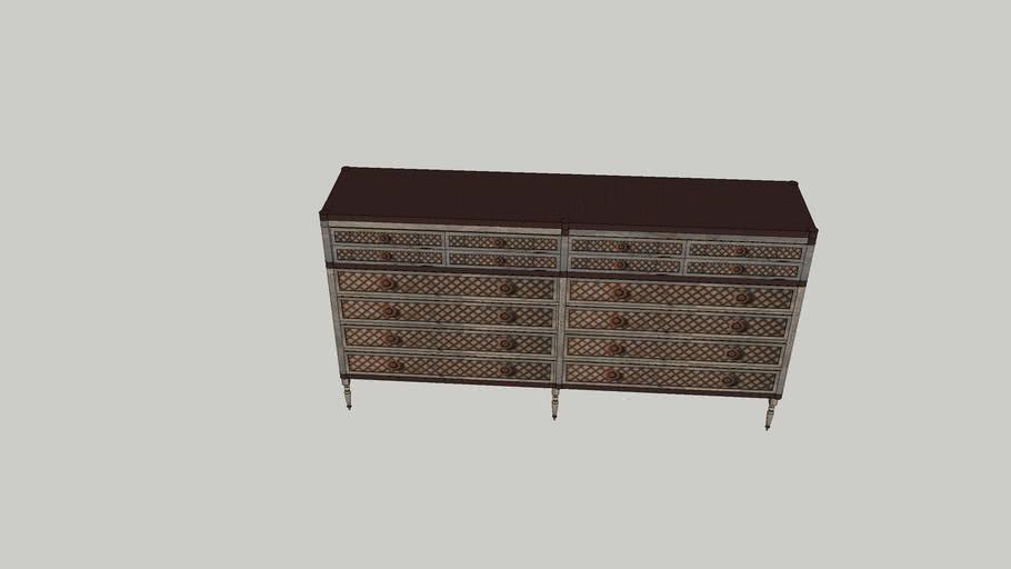 Louis XVI Treillage 12 drwe dresser