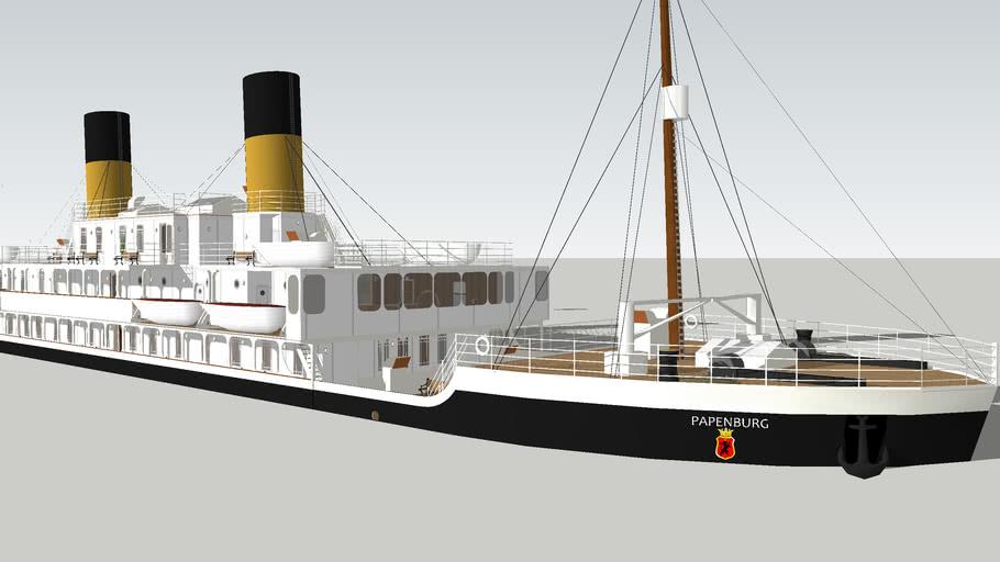"""Passenger Steam Ship """"Papenburg"""" 2/2"""
