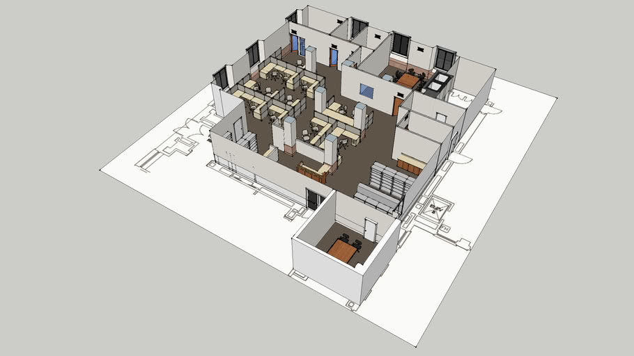 Office Layout 3d Warehouse