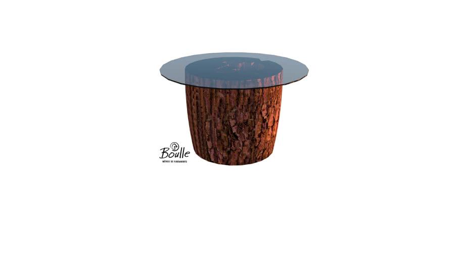 Mesa de apoio Boulle com tronco