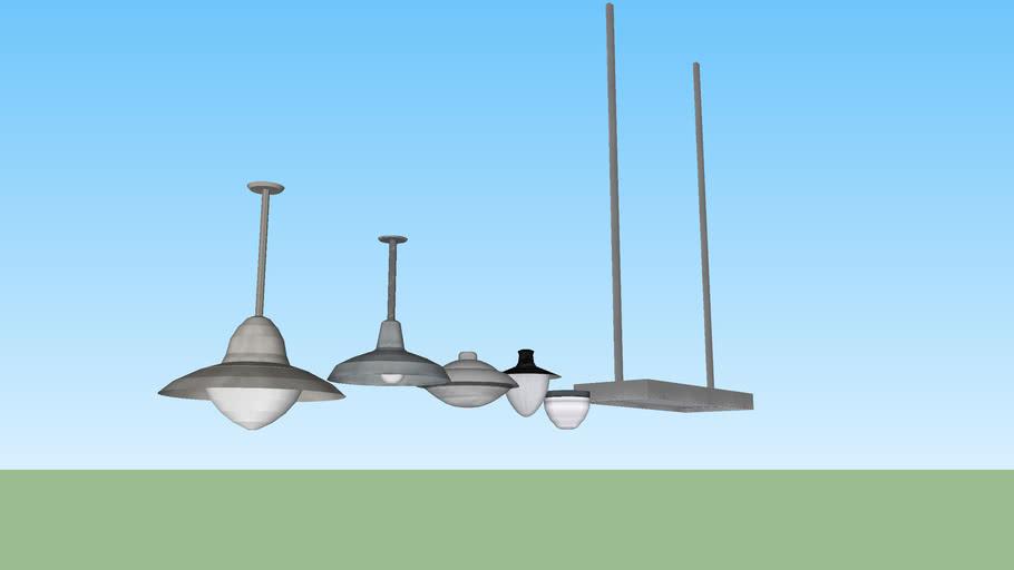 Outdoor ceiling light set