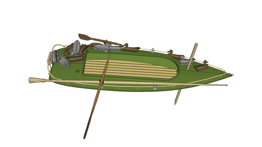 Hunting Boat with Duck Decoys