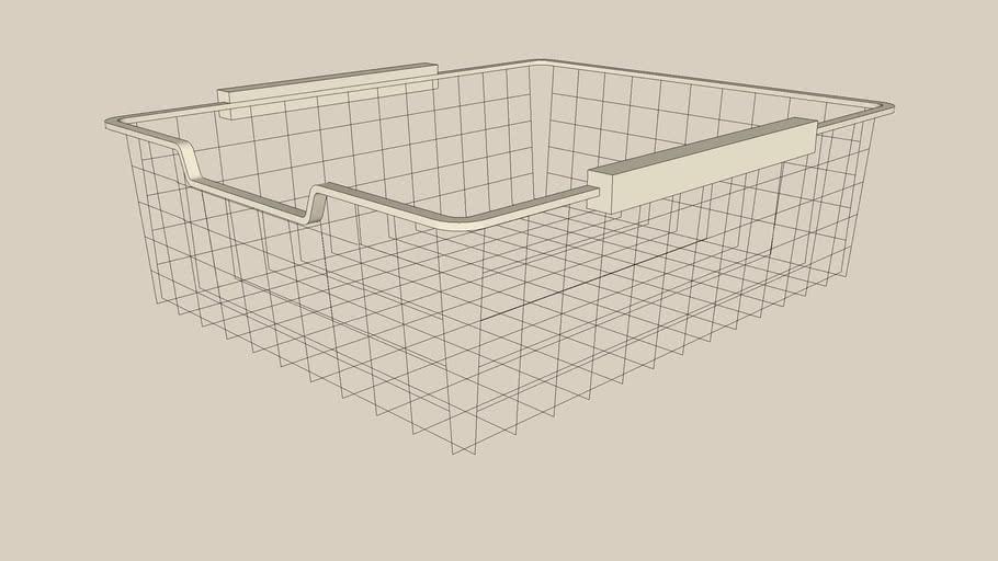 KOMPLEMENT wire basket 50x58x16