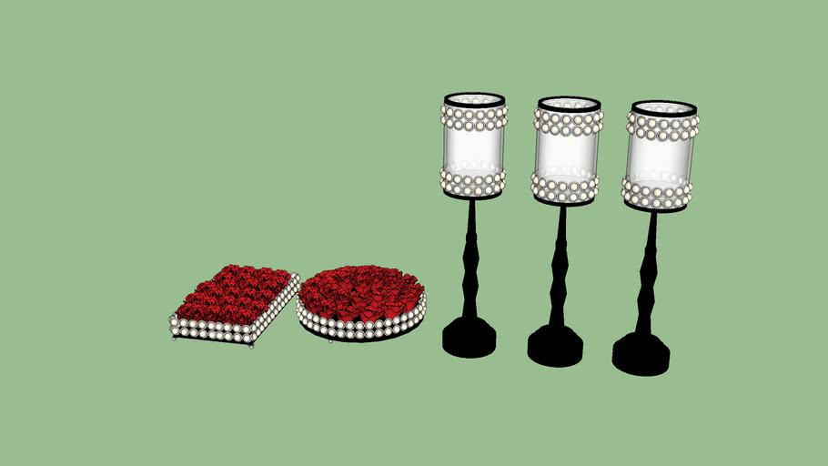 Bandejas, taças, decoração