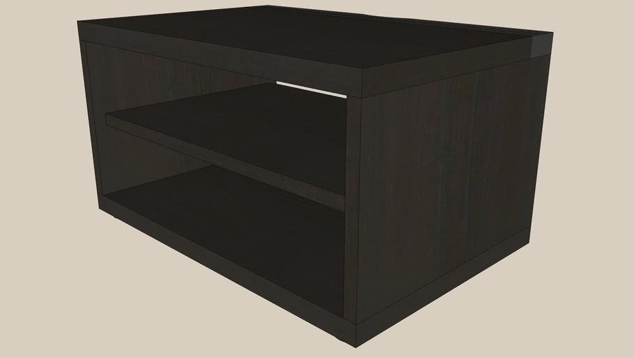 BESTA TV bench 60x40x32 black-brown