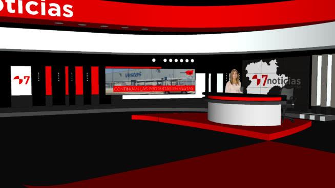 Proyecto de plató de noticias Cyl 7