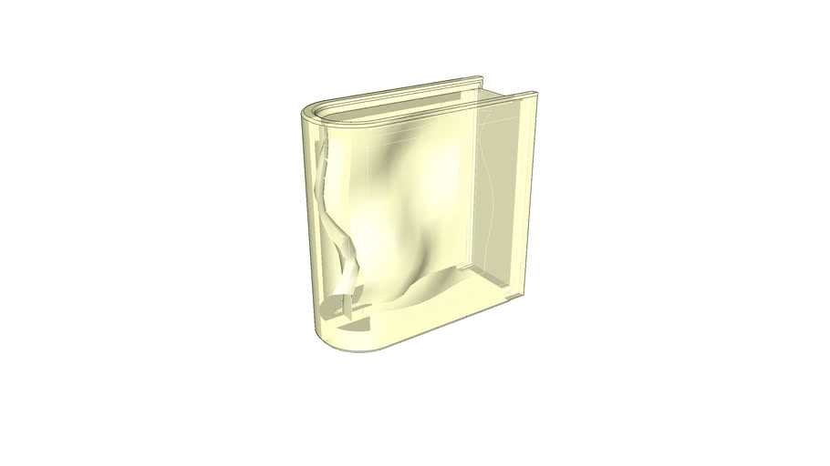 glass brick 190/190/80 rounded