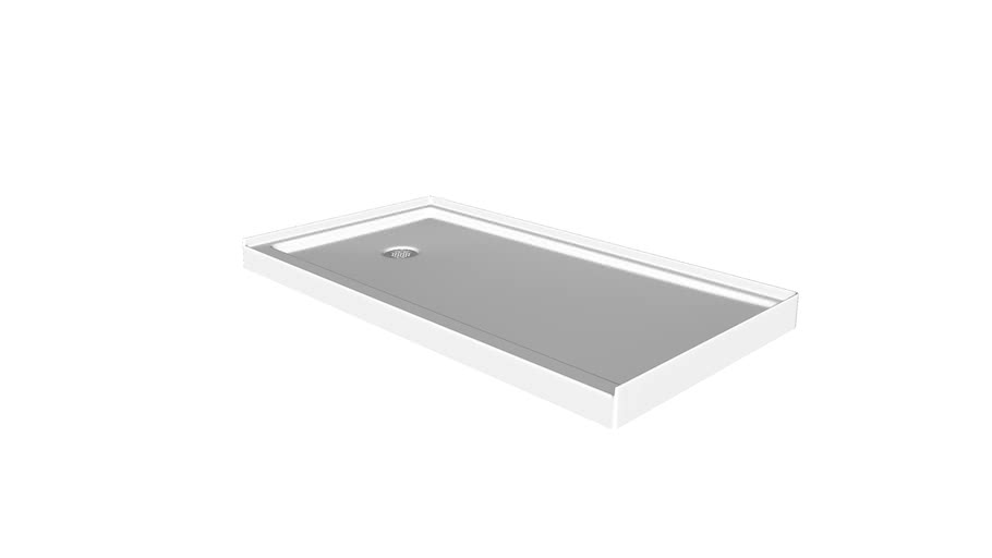 """K-8639 Rely(R) 48"""" x 32"""" single-threshold shower base with left-hand drain"""