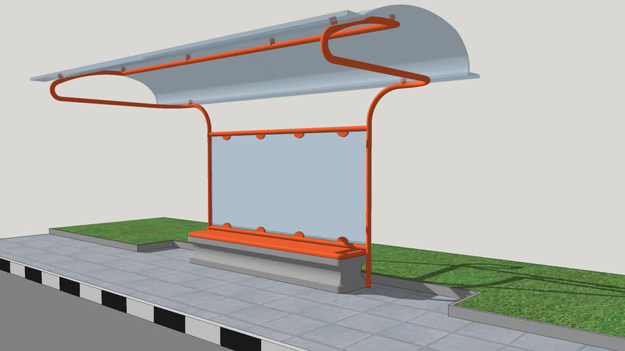 Simple bus-shelter