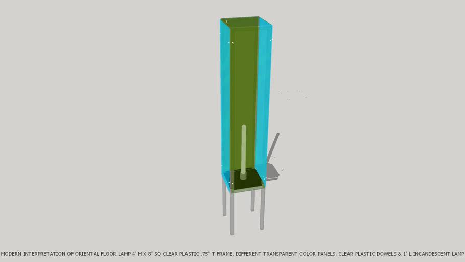 LAMP FLOOR ORIGINAL INTERPRETATIVE ORIENTAL BY JOHN A WEICK RA & AP LEED