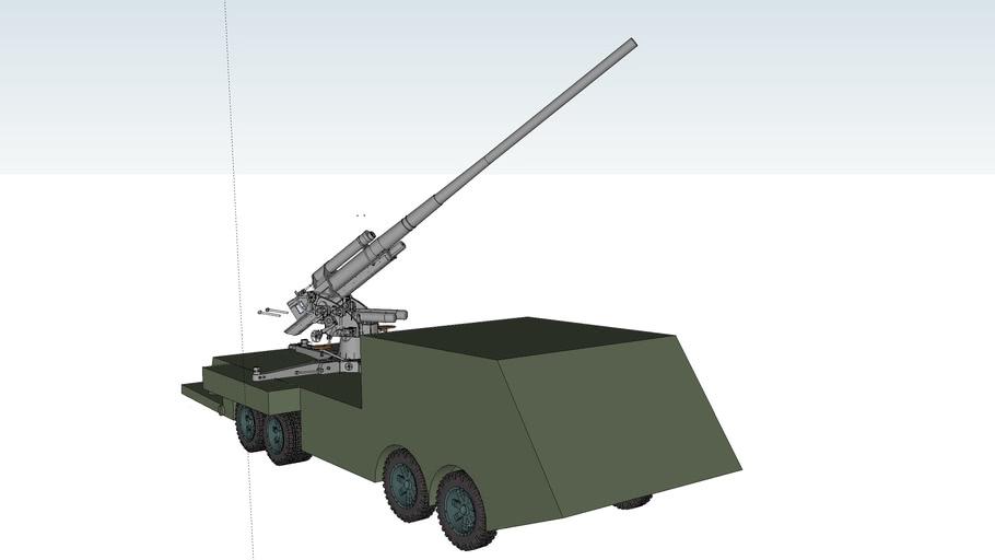 HA-23 self-propelled howitzer/Anti-aircraft guns 88mm