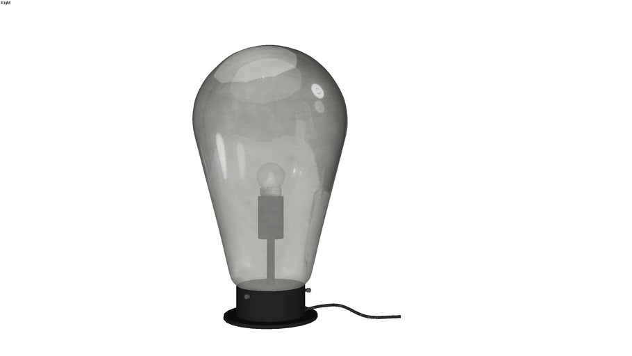 39833 Table Lamp Bulb Black