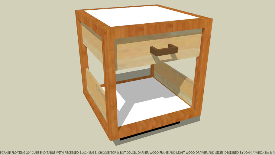 END TABLE CHOOSE COLOR OF TOP & BOT PANEL JOHN A WEICK RA