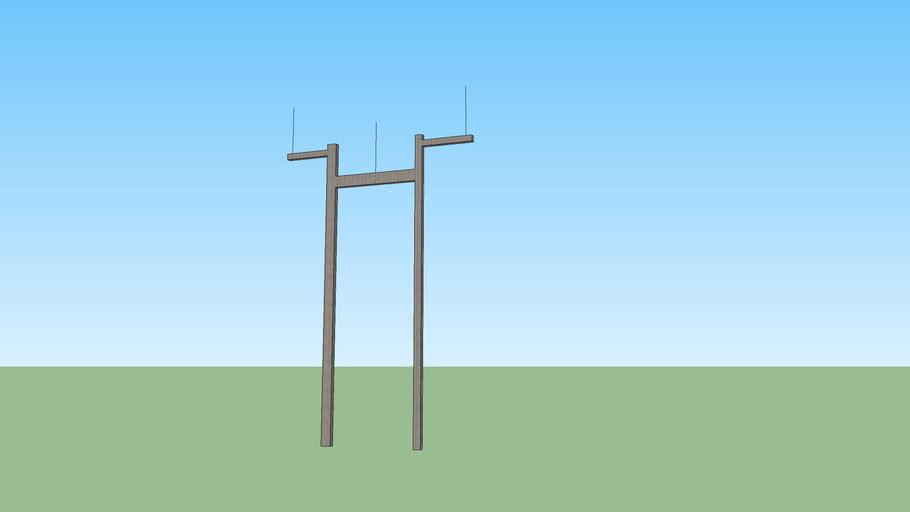 H-Frame concrect transmission pole (87kv)